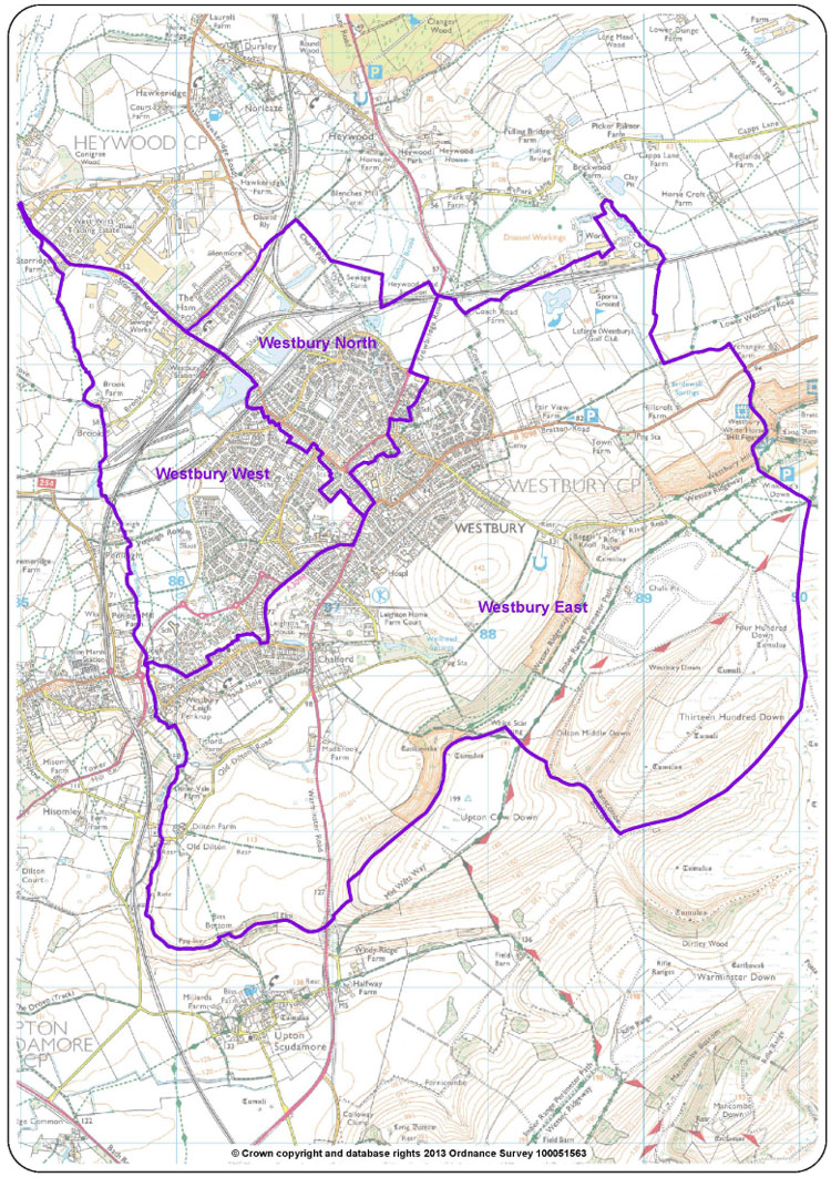 Ward Map for Westbury