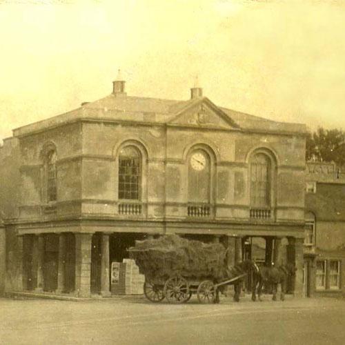 Old black & white image of Westbury