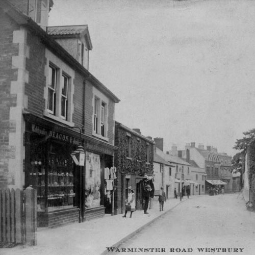 Black & White Street Picture of Warminster Road, Westbury