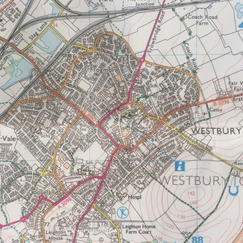 Westbury Town Map