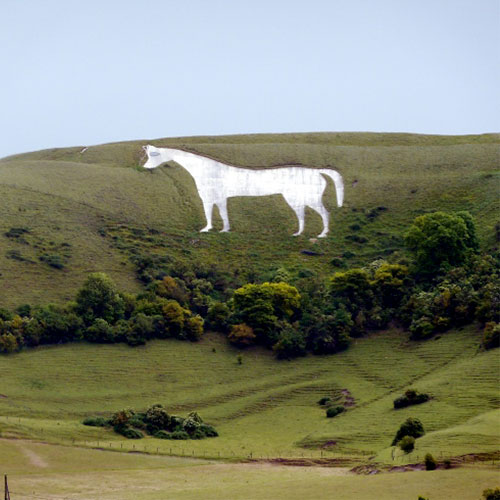 The White Horse on the hillside