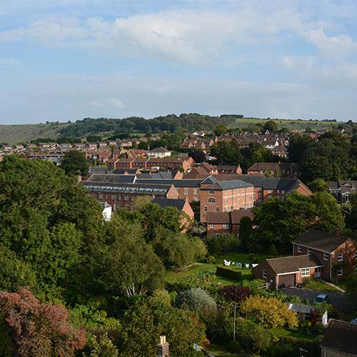Aerial photo of Westbury
