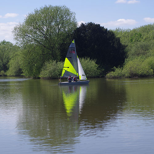 Image of Mead Lake with sail boat