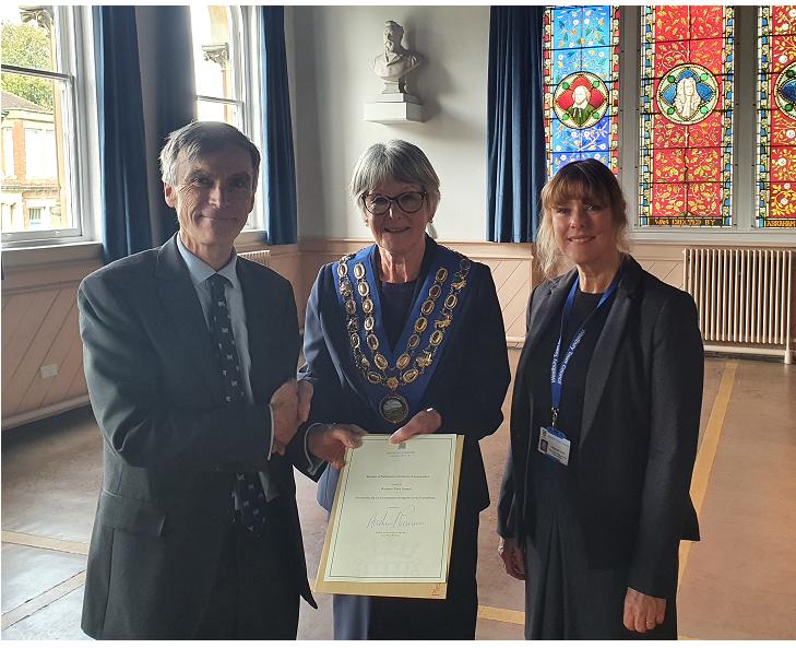 Andrew Murrison Award - Mayor SK Town Clerk DU - October 2021